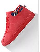 Недорогие -Муж. Комфортная обувь Замша Весна & осень На каждый день Кеды Черный / Серый / Красный