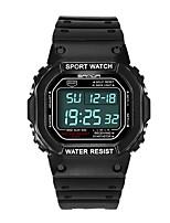 Недорогие -SANDA Муж. Спортивные часы электронные часы Японский Цифровой 30 m Защита от влаги Календарь Хронометр Plastic Группа Цифровой Роскошь Мода Черный - Красный Синий Золотистый / Фосфоресцирующий