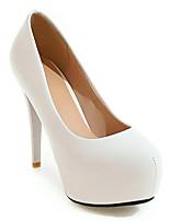 Недорогие -Жен. Обувь Полиуретан Весна Удобная обувь Обувь на каблуках На шпильке Белый / Черный / Розовый