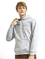 cheap -Men's Basic Hoodie - Solid Colored / Letter