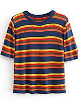 cheap -Women's Vest - Striped / Color Block, Print