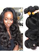 billiga -4 paket Indiskt hår / Burmesiskt hår Kroppsvågor Obehandlat / Äkta hår Presenter / Human Hår vävar / Favör för Tebjudningar 8-28 tum Naurlig färg Hårförlängning av äkta hår Heta Försäljning / Tjock