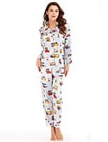 cheap -Women's Deep V Suits Pajamas Geometric