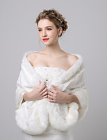 cheap -Sleeveless Faux Fur Wedding / Birthday Women's Wrap With Patterned Shawls