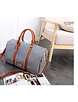 cheap -Women's Bags Polyester / Canvas Shoulder Bag Zipper Blue / Brown / Light Grey