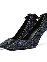 Недорогие -Жен. Комфортная обувь Микроволокно Лето Обувь на каблуках На шпильке Черный