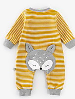cheap -Baby Girls' Solid Colored / Striped Long Sleeve Romper