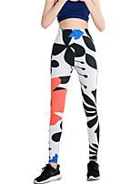 cheap -Latin Dance Leggings / Tights Women's Training / Performance Elastic / Charmeuse Pattern / Print / Gore High Pants