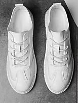 """Недорогие -Муж. Комфортная обувь Полотно Лето На каждый день / Стиль """"Школьная форма"""" Кеды Белый / Черный"""