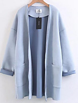 cheap -Women's Cotton Trench Coat - Solid Colored