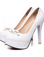 abordables -Femme Chaussures de confort Polyuréthane Printemps Chaussures à Talons Talon Aiguille Blanc / Noir