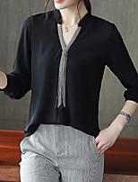 Недорогие -Жен. Пэчворк Блуза Классический Контрастных цветов