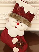 Недорогие -Чулки Праздник / Мультяшная тематика Полиэстер Квадратный Оригинальные Рождественские украшения