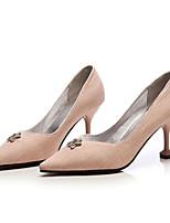 Недорогие -Жен. Комфортная обувь Деним Весна Обувь на каблуках На шпильке Черный / Серый / Розовый