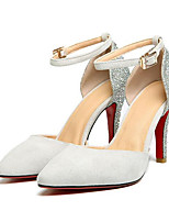 Недорогие -Жен. Балетки Замша Весна Обувь на каблуках На шпильке Черный / Серый