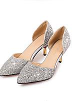 Недорогие -Жен. Комфортная обувь Синтетика Весна Обувь на каблуках На шпильке Золотой / Черный / Серебряный
