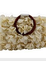 cheap -Women's Bags Wood / Satin Evening Bag Zipper / Flower Geometric Champagne / Sillver Gray