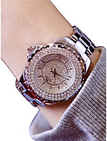 cheap -Women's Wrist Watch Quartz Chronograph Luminous Casual Watch Alloy Band Analog Luxury Bangle Silver / Gold - Gold Silver / Imitation Diamond / Large Dial