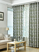 cheap -Blackout Curtains Drapes Bedroom Contemporary 100% Polyester Jacquard