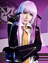 abordables -Inspiré par Dangan Ronpa Kirigiri Kyouko Manga Costumes de Cosplay Costumes Cosplay Sexy / Mode Manches Longues Manteau / Chemisier / Jupe Pour Femme Déguisement d'Halloween