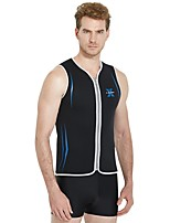 cheap -Men's Wetsuit Top 3mm Vest / Gilet Thermal / Warm Sleeveless Front Zip - Surfing / Snorkeling / Watersports Solid Colored Autumn / Fall / Stretchy