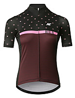 cheap -Mysenlan Women's Short Sleeve Cycling Jersey - Wine Red Bike Jersey Polyester / YKK Zipper