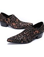 Недорогие -Муж. Наппа Leather Осень Оригинальная обувь Туфли на шнуровке Полоски Кофейный / Свадьба / Для вечеринки / ужина