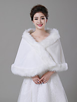cheap -Sleeveless Faux Fur Wedding / Birthday Women's Wrap With Solid Capelets