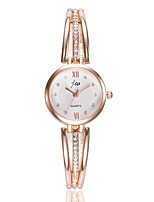 cheap -Women's Dress Watch / Wrist Watch Chinese Casual Watch / Imitation Diamond Alloy Band Casual / Fashion Silver / Rose Gold