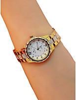 Недорогие -Жен. Наручные часы Кварцевый Секундомер Светящийся Повседневные часы сплав Группа Аналоговый Кольцеобразный Элегантный стиль Серебристый металл / Золотистый / Розовое золото -  / Имитация Алмазный