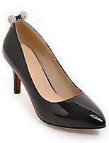 baratos -Mulheres Sapatos Confortáveis Couro Envernizado Primavera Saltos Salto Agulha Preto / Vermelho / Rosa claro