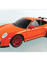 Недорогие -Машинка на радиоуправлении Rastar 39900 10.2 CM 27MHz Автомобиль 1:24 8 km/h КМ / Ч Подсветка / На пульте управления
