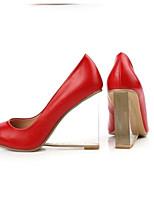 Недорогие -Жен. Обувь Наппа Leather Весна Туфли лодочки Обувь на каблуках Туфли на танкетке Белый / Черный / Красный