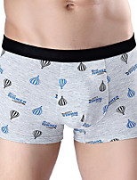 cheap -Men's Boxers Underwear Geometric / Color Block / Letter Mid Waist