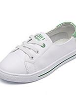 baratos -Para Meninos / Para Meninas Sapatos Pele Primavera & Outono Conforto Tênis para Preto / Verde / Rosa claro