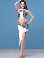 abordables -Danza del Vientre Accesorios Mujer Rendimiento Modal / Encaje Encaje / Fruncido Sin Mangas Cintura Baja Faldas / Top