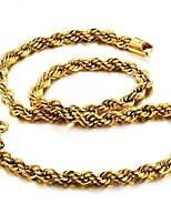 cheap -Men's Stylish Necklace - Gold Plated Creative Fashion Cool Gold 60 cm Necklace Jewelry 1pc For Gift, Daily