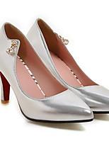 baratos -Mulheres Sapatos Confortáveis Couro Ecológico Inverno Saltos Salto Agulha Preto / Prata / Vermelho