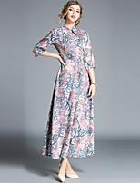 cheap -Women's Street chic Swing Dress - Floral Print