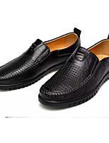 cheap -Men's Comfort Shoes PU(Polyurethane) Spring / Summer Casual Loafers & Slip-Ons Breathable Black / Light Brown / Dark Brown
