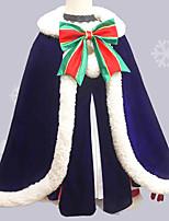 baratos -Inspirado por Fate / zero Saber Anime Fantasias de Cosplay Ternos de Cosplay Laço Saia / Luvas / Aquecedores de Pernas Para Mulheres Trajes da Noite das Bruxas