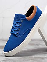 Недорогие -Муж. Комфортная обувь Замша Весна / Осень На каждый день Кеды Черный / Синий