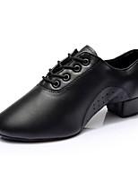 preiswerte -Herrn Schuhe für den lateinamerikanischen Tanz / Schuhe für modern Dance Kunstleder Sneaker Starke Ferse Maßfertigung Tanzschuhe Schwarz