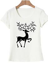 baratos -Mulheres Camiseta Básico Estampado, Animal
