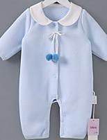 cheap -Baby Girls' Patchwork Long Sleeve Romper