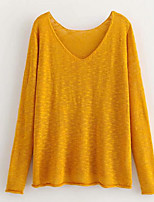 cheap -Women's Basic Pullover - Solid Colored