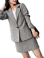 cheap -Women's Basic Blazer-Geometric