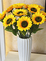 cheap -Artificial Flowers 5 Branch Classic / Single Stylish / Pastoral Style Sunflowers Tabletop Flower