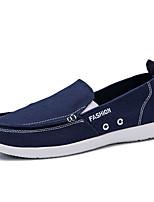 abordables -Homme Chaussures de confort Toile Automne Décontracté Mocassins et Chaussons+D6148 Preuve de l'usure Slogan Bleu de minuit / Gris / Bleu