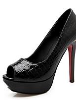 abordables -Femme Chaussures de confort Polyuréthane Printemps Chaussures à Talons Talon Aiguille Blanc / Noir / Rouge